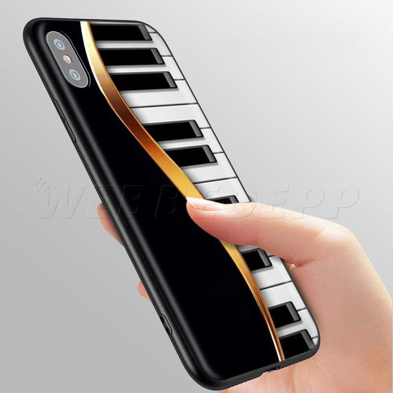 Webbedepp الموسيقى لوحة مفاتيح البيانو الحال بالنسبة لابل آيفون 11 برو XS ماكس XR X 8 7 6 6S زائد 5 5s SE