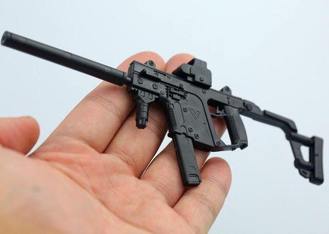 16 KRISS vecteur mitraillette en plastique assemblé arme à feu modèle de Puzzle pour 1/6 soldats armes militaires blocs de construction