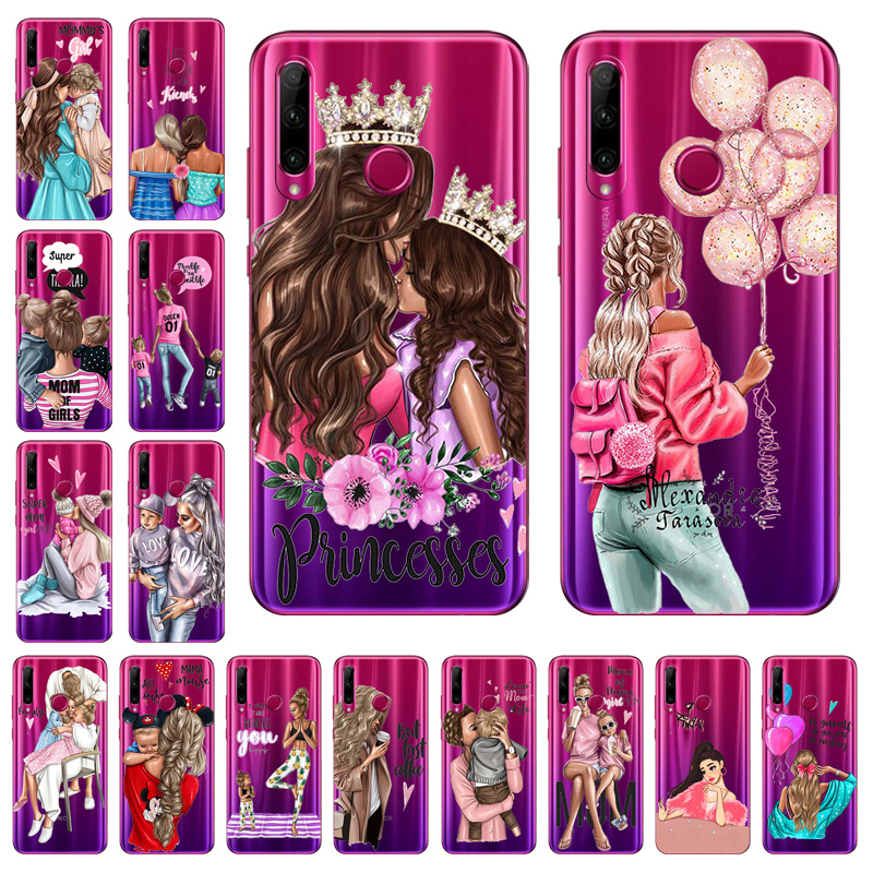 Transparent Case For Huawei Honor 8X MAX 9X Pro 8S 10i 10 Lite Case Fashion Super Mom Baby Girl Capa Etui For Honor 9x Pro