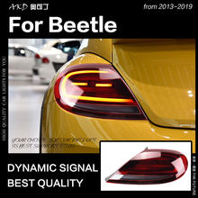 Estilo do carro para VW Beetle Luzes Da Cauda 2013-2019 Sinal de halogênio Lâmpada de Cauda Luz Da Cauda LEVOU DRL Freio Reverso auto Acessórios