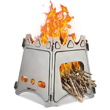 цена на Portable Outdoor Oven Camping Grills  Bbq Grill  Charcoal Stove Barbeque Folding Furnace Firewood Charcoal Alcohol Dropshipping