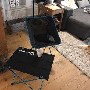 Image 4 - ポータブルムーンチェア軽量釣りキャンプバーベキュー折りたたみ拡張ハイキングシートガーデン超軽量オフィス家庭用家具