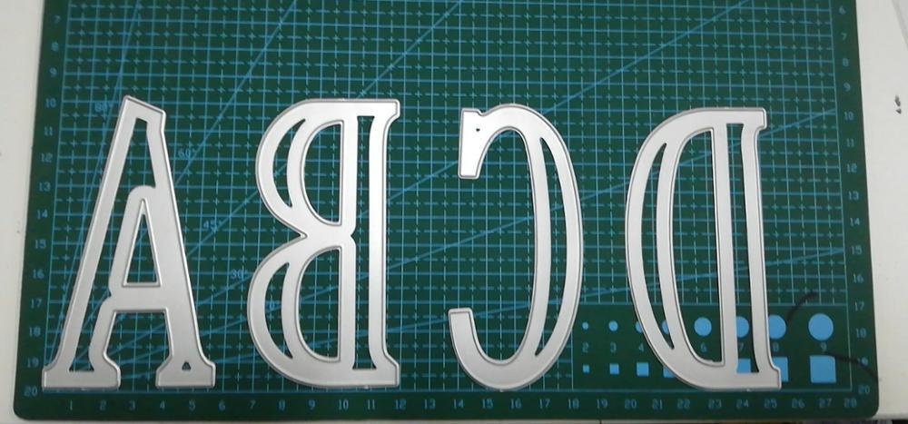52 pièces/ensemble grand 10cm A Z Alphabets grand métal matrices de découpe 13cm pochoir en plastique pour bricolage Scrapbooking artisanat papier cartes nouveau 2019 - 2