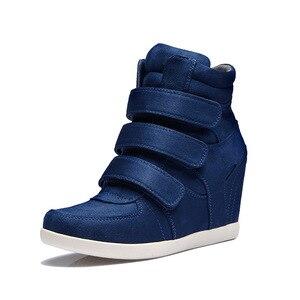 Image 2 - Женские ботинки в стиле ретро, демисезонные повседневные ботинки с высоким берцем, Корейская версия, 2019