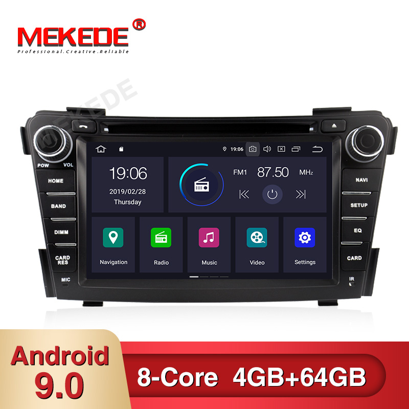 PX5 android 9.0 4GB+64GB Car multimedia Player Navigation <font><b>GPS</b></font> DVD for <font><b>HYUNDAI</b></font> <font><b>I40</b></font> 2011-2015 with WiFi BT carplay USB radio navi image