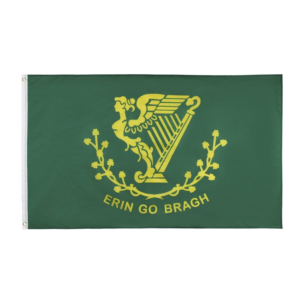 Erin Go Bragh Ireland Forever Irish Flag 150* 90cm 3ft x 5ft Custom Banner Metal Holes Grommets