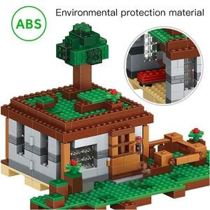 Image 5 - 408pcs The First Night Adventure Shelter Model Building Blocks Village Eductional Bricks Toys for Children