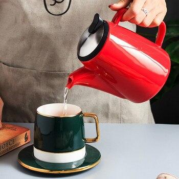 Espresso American Ceramic Coffee Pot Stainless Percolator Coffee Tools Barista Teapot Kahve Demleme Kitchen Dining Bar KK60KF