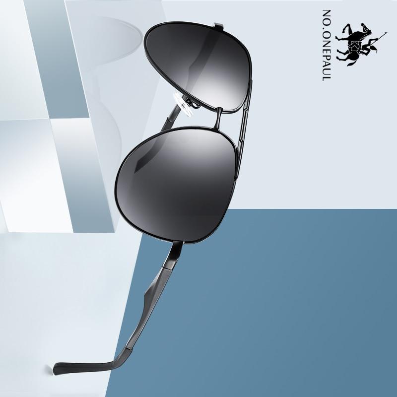 NO.ONEPAUL Brand Accessories Square Polarized Sunglasses Lens Vintage Eyewear Sun Glasses For Men/Women Unisex Retro Aluminum