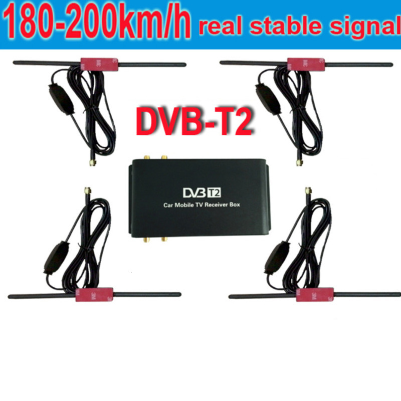 180-200 Km / H DVB-T2 <font><b>Car</b></font> Antenna 4 Mobility Chip DVB T2 Digital <font><b>Car</b></font> Coordinator HD 1080 <font><b>TV</b></font> Receiver P Dvbt2 image