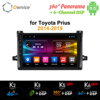 Ownice k3 k5 k6 Android9.0 Car Player Radio GPS 360 Panorama Auto Stereo FOR Toyota Prius 2014 2015 2016 2017 4G LTE DSP Optical
