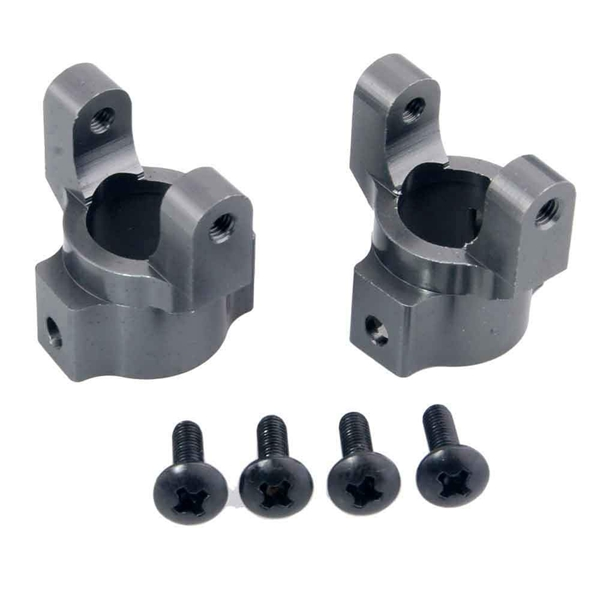 2PCS For RGT 86100 Model Car Steering C Block Aluminum P860011 Front Axle Wheel Hub Carrier For 1:10 RC Cars Upgrade Accessories