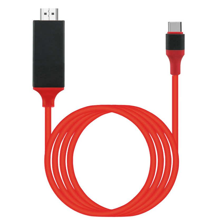 4K 1080P Tipe C Ponsel Ke TV HDMI Kabel Adaptor USB Video Link Memimpin untuk MacBook untuk samsung Galaxy S8 S9 S10 untuk Huawei Android