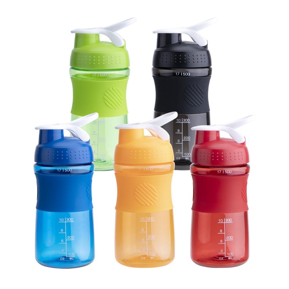500ML/750ML Food Grade Shaker Protein Water Bottle BPA Free