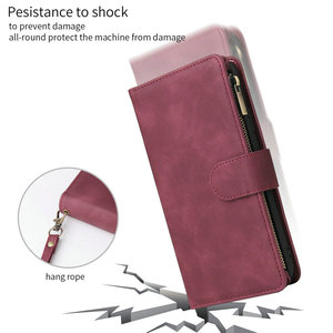 Image 2 - Multifunction Zipper Flip Leather Etui for Coque Samsung M30S Case Wallet Cover for Samsung Galaxy M21 M30 S M 21 30 M 30S Case