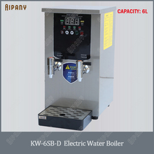 KW10SK commercial electric stepwise water boiler 6L/10L/20L/30L water boiling machine stainless steel hot water dispenser it10h 10l commercial energy saving electric water boiler water machine kettle automatic boiling for milk tea shop cafe