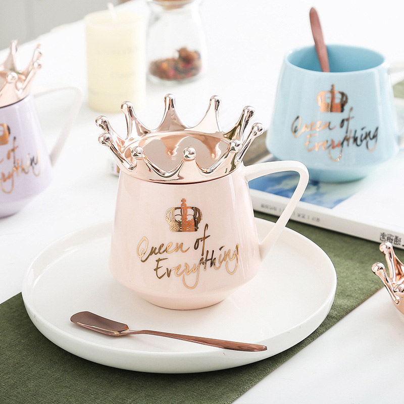 חדש כתר נושא חלב/קפה ספלי 300ml Cartoon צבעים ספלי כוס מטבח כלי הטוב ביותר X-mas מתנה עבור חבר או חברה