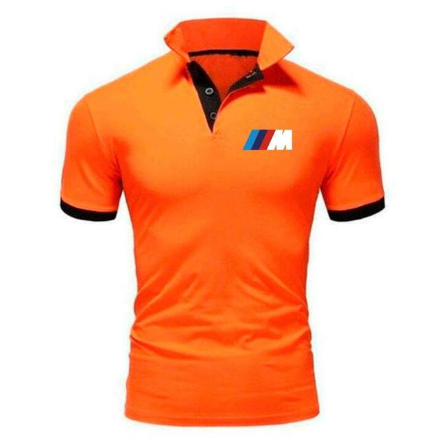 Summer BMW short Sleeve Polo Shirt men polo shirts casual Slim Solid Printing business men's polo shirts men's clothing 4