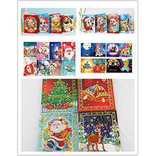 New 5d diy diamond painting christmas cards diamond mosaic embroidery beads full cartoon personalized animal christmas gift Sant(China)