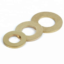 50Pcs DIN125 ISO7089 M2 M2.5 M3 M4 M5 M6 M8 Meson Pad Sheet Metal Collar Brass Flat Washer HW049