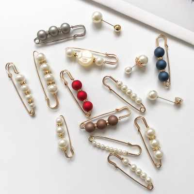 Fashion Woman/Girl Imitation Pearl Brooch Classic Charm High Quality Accessories Simple Double Pearls Brooches All-match