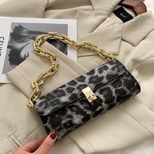 Cow Pattern Underarm Bag Women's Bag 2021 New Fashion Net Red French Stick Bag Single Shoulder Handbag