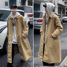 Тренчкот мужской длинный в стиле ретро модная повседневная Уличная