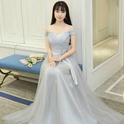Бордовые Платья для подружки невесты, элегантные тюлевые праздничные свадебные платья в пол серого цвета, вечерние платья больших