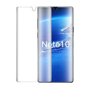 Image 2 - 9D verre trempé pour Samsung note 10 protecteur décran en verre plein bord incurvé pour Samsung note 10 Plus 10 + Pro verre de protection