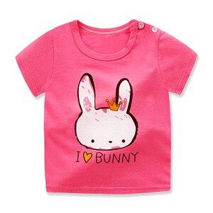 Новая летняя модная футболка для маленьких мальчиков и девочек хлопковые топы С Рисунком Слона, Детская футболка с короткими рукавами детские футболки для мальчиков, От 1 до 6 лет