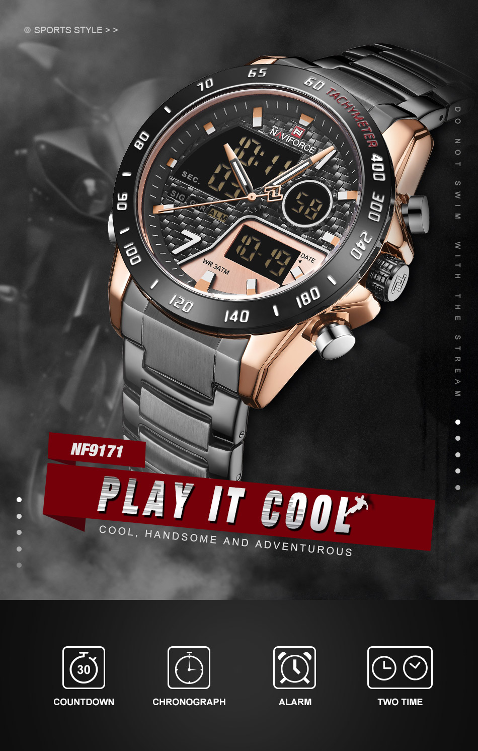 Naviforce NF 9171 Fashion Quartz Watch 5