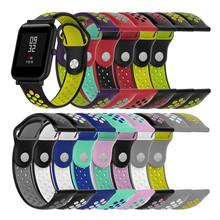 Amazfit bip pasek 20mm podwójny kolor silikonowy pasek do zegarków dla Xiaomi Huami Amazfit Bip zegarek młodzieżowy tanie tanio int box pro Pasek na nadgarstek Dla dorosłych Wszystko kompatybilny Silicone 1*Strap(NO WATCH)