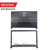 New Original LCD Back Cover Front Bezel for MSI GL73 GP73 GP73M MS 17C1 3077C7A211 3077C1B214 Metal Black