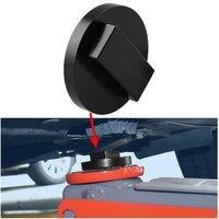 1PCS Jack Matte Adapter Billet Schwarz Eloxiert Aluminium Boden Jack Pad Für Mini Cooper zu Pinch Schweiß Seite Lift disk Auto Zubehör