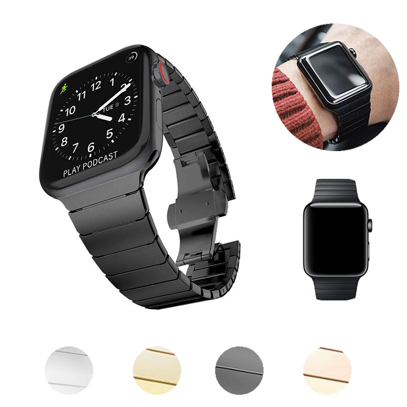 Band For Apple Watch Series 6 5 4 40MM 44MM Sport Bracelet Stainless Steel Strap For Iwatch 3 2 1 38MM 42MM Accessories