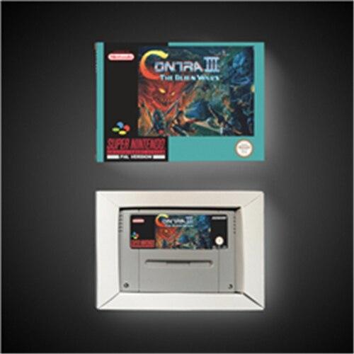 Contra III Alien savaşları EUR sürümü aksiyon oyunu kart perakende kutusu ile