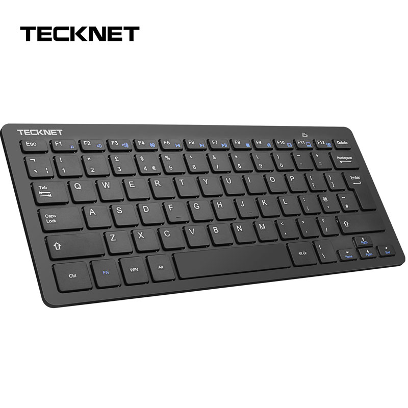 Image 1 - TeckNet 2.4GHz Wireless UK Keyboard Slim USB Laptop Keyboards Hot Keys Design for Android Smart TV Windows 10 8 7 XP Vista-in Keyboards from Computer & Office