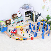 Wooden Train Track Set Wooden Railway In Puzzle With And Friends Tracks Transit Brio Wooden Railway Toys Trains For Kids Gifts