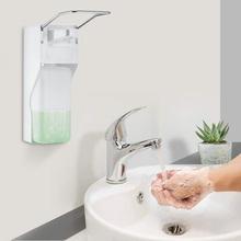 Dozownik do mydła dozownik 1000ml naścienny dozownik środka dezynfekującego ABS ręczny dozownik mydła dozownik do mydła łokieć prasa pompka do mydła do samochodu strona główna tanie tanio frontoppy CN (pochodzenie) Dozownik mydła w płynie Dozownik mydła ręcznie Soap Dispenser Other kitchen Bathroom