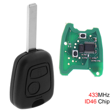 433MHz 2 Buttons Car Remote Key Fob Replacement with ID46 Chip and Battery for Citroen C1 C2 C3 C4 Xsara Picasso 2000-2009 433mhz 2 buttons keyless uncut flip remote key fob with id46 chip for citroen saxo picasso xsara berlingo sx9 d25 new listing