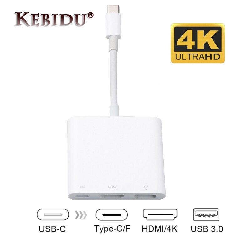 Hot Type C к HDMI Type C USB 3,1 Hub USB 3,0/HDMI/ Type C Female адаптер зарядного устройства, для нового Macbook Dell XPS 13