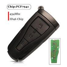 Jingyuqin Für MG 550 MG6 3 Tasten Ersatz Smart Remote Auto Schlüssel Fob 434Mhz ID46 Pcf7941 Chip