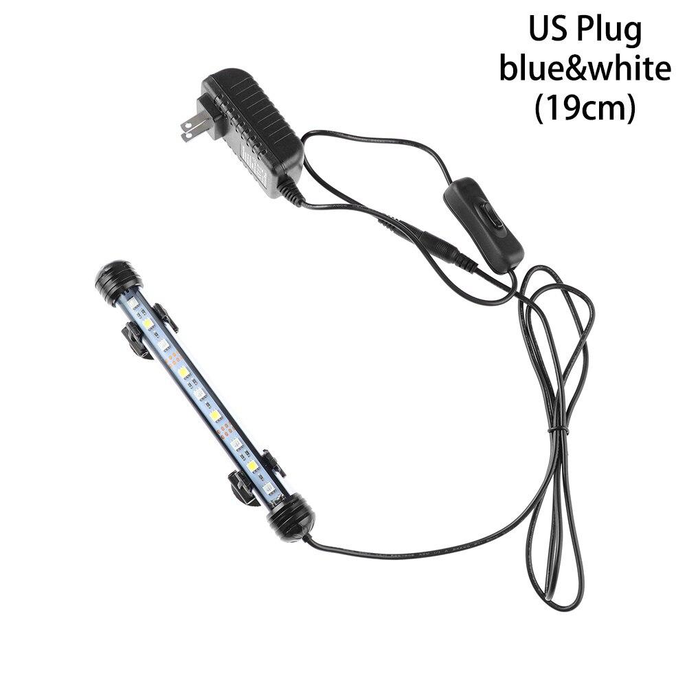 Горячие 19/29/39/49 см светодиодный аквариум светильник сине-белые rgb-пульт дистанционного Управление подводный Водонепроницаемый погружной лампа бар воздушный пузырь светильник - Цвет: US Plug1