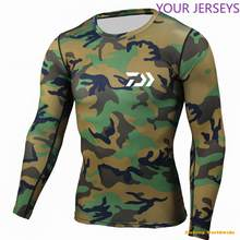 New Sport DAIWA Fishing T Shirts Men Long Sleeve Camouflage Quick Dry Running Vest Man Breathable Clothes(China)