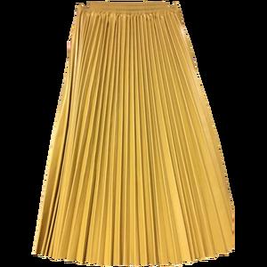 Image 5 - LANMREM 2020 herbst mode neue PU leder plissee rock elastische hohe taille alle spiel weibliche der böden YF342