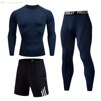 Jogging suit Men's Thermal underwear Compression Sportswear Base layer Training kit spandex tights winter Men Thermal suit 4XL underwear brand menswear thermal underwear skull 3d pattern printing rashgard kit man tracksuit thermal underwear base layer 4xl