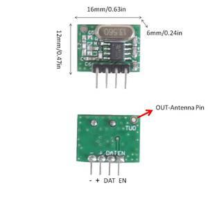 Image 4 - Módulo receptor RF superheterodino de 433 Mhz y módulo transmisor con antena para Arduino DIY Kit 433 Mhz controles remotos