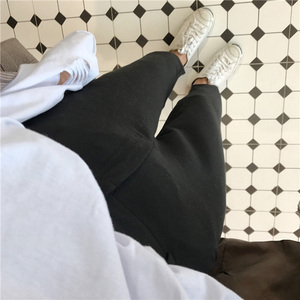 Image 5 - Женские однотонные брюки, подходящие ко всему брюки до щиколотки, женские тонкие элегантные прямые модные брюки в Корейском стиле на молнии, 2020