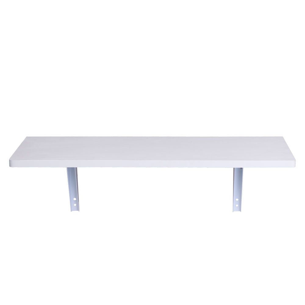 【US Warehouse】Folding Wall-mounted Desk White(Computer Desk Table)
