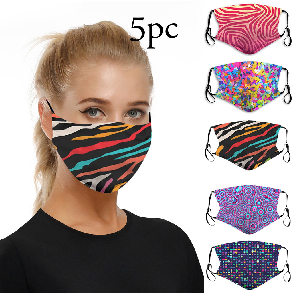 Outdoor Anti-droplets Dustproof Face Cover Pad Dust Protector W/ Filter Washable Reusable Cotton Mouth Products In Stock